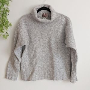 (The Territory Ahead) Grey Wool Cashmere Sweater M